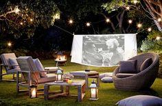 Cine casero al aire libre