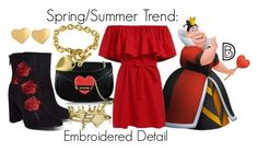 Spring/Summer Trend: Embroidered Detail by leslieakay on Polyvore featuring polyvore fashion style Love Moschino Bling Jewelry T Tahari clothing disney springtrends summerstyle disneybound