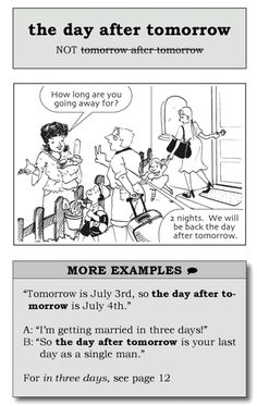 the day after tomorrow Say it better in English #Useful_phrase #English #better #تعلم_الانكليزية_معنا