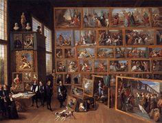 El archiduque Leopoldo Guillermo en su galería de imágenes en Bruselas, 1651 - David Teniers el Joven