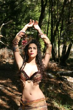 Animal Print Tribal Bra Belly Dance Bra Gypsy Top by gypsecouture