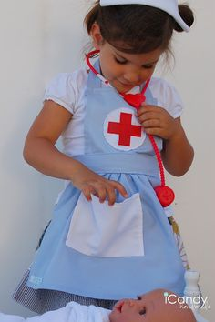 Kids dress up nurse