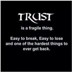 Trust...and you did it again..