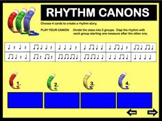 Rhythm Canons from Smart Rhythms For Fall by Linda Miller