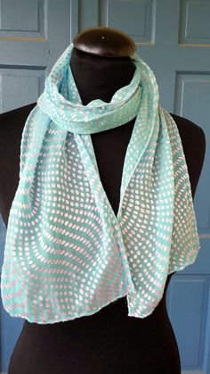 Beautiful pale blue and silver polka dot silk  by M Theresa Brown of onroadartists