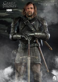Game Of Thrones The Hound (Sandor Clegane) Action Figur Hound Game Of Thrones, Game Of Thrones Poster, Game Of Thrones Series, Game Of Thrones Cast, Got Characters, Game Of Thrones Characters, Game Of Thrones Collectibles, Fantasy Tv Series, Fantasy Art