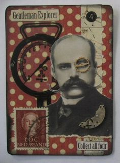 Gentleman Explorer ~Steampunk ATCs - PAPER CRAFTS, SCRAPBOOKING & ATCs (ARTIST TRADING CARDS)- Knitting, sewing, crochet, tutorials, children crafts, papercraft, jewlery, needlework, swaps, cooking and so much more on Craftster.org