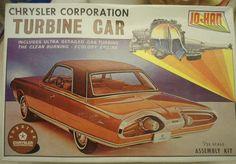 JOHAN Chrysler Corporation Turbine Car w/ detailed gas turbine 1:25 GC-300 1:25 #JOHAN