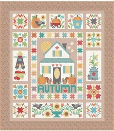 Fall-Themed Quilts and Sewing Projects and Inspiration Wool Applique, Applique Quilts, Quilt Kits, Quilt Blocks, Star Quilts, Mini Quilts, Quilting Projects, Sewing Projects, Quilting Ideas