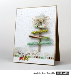 "Shari Carroll shares a ""Charlie Brown"" Christmas tree card #HeroArts"