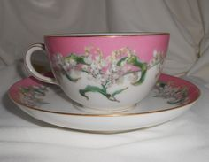 Haviland For Tiffany & Co Tea Cup Coffee Saucer Hand Painted Lily Of The Valley #Haviland