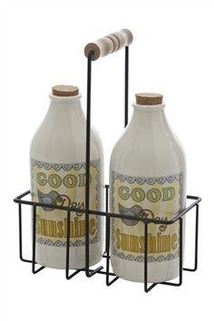 Ceramic retro bottles