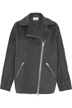 Acne Studios Envier Doublé wool and cashmere-blend biker jacket | NET-A-PORTER