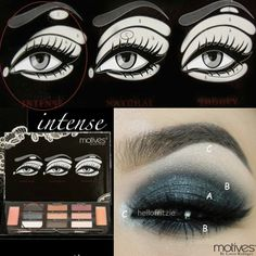 "Motives by Loren Ridinger  We love this bold look by @Fritzie Torres using Motives Beauty Weapon Palette ""Intense"""