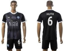 Leicester City #6 Huth Away Soccer Club Jersey