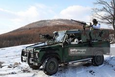 Serbian special police forces patrol the border with Kosovo near ...