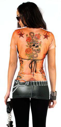 Faux Tattoo Tee <3