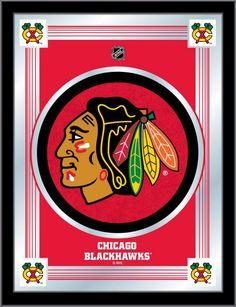Chicago Blackhawks NHL Logo Mirror - Visit SportsFansPlus.com for Discount Coupon!