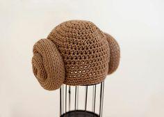 Baby Crochet Princess Leia Hat
