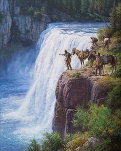 """Offerings to the Spirits are a way for Native Americans to say """"thank you"""" """"protect me & my kin"""" """"watch over us"""". It is very special and these men are offering something, maybe for the coming spring,"""