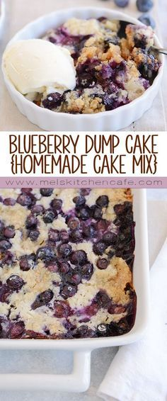 This triedandtrue easy recipe for blueberry dump cake is made with a simple cake mix fresh or frozen blueberries butter and milk Minimal effort for a super tasty dessert Dump Cake Recipes, Fruit Recipes, Dessert Recipes, Cooking Recipes, Healthy Recipes, Yummy Recipes, Cheap Recipes, Cooking Games, Muffin Recipes