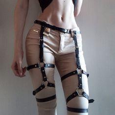 Cintura in pelle per gambe pelle calze giarrettiera gamba di