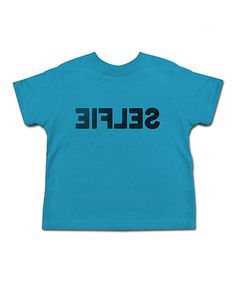 Another great find on #zulily! Turquoise Selfie Tee - Toddler & Kids #zulilyfinds