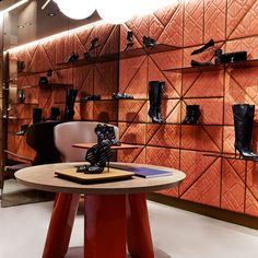 Madison Avenue boutique - New York. Design by Patricia Urquiola  #santoni #Flos