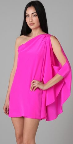 hot pink ... love the dress.  color might be a bit too hot