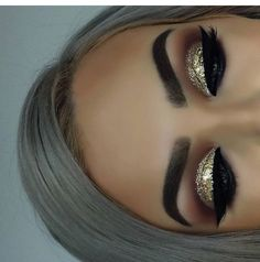Gold Glitter Cut Crease
