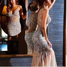 www.dressestime.com beading prom dress,beaded evening dress,long prom dresses,long evening dresses,open back prom dresses, backless evening dresses, party dresses,Mermaid prom dress,long prom dress