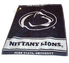 "Penn State Nittany Lions 16 x 19 Woven Golf Towel (Set of 2): ""This 16"""" x 19"""" NCAA Penn State Nittany… #Sport #Football #Rugby #IceHockey"