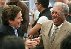 Christian Bale is such a good actor that he has palpable chemistry with Morgan Freeman. Morgan Freeman!!!