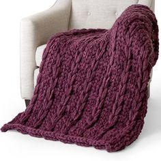 Bernat Alize EZ-Wool Looping Ladders Blanket   Yarnspirations Finger Knitting Blankets, Knitted Blankets, Loom Knitting, Knitting Machine, Baby Blankets, Hand Knitting, Plush Blankets, Finger Knitting Projects, Yarn Projects