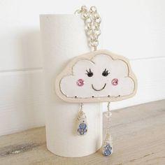 ceramic raining cloud necklace by cherry pie lane | notonthehighstreet.com