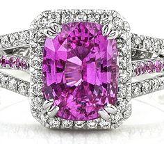 Rosamaria G Frangini High Pink Jewellery Pink Sapphire & Diamond Ring I Love Jewelry, Jewelry Rings, Fine Jewelry, Sapphire Jewelry, Gemstone Jewelry, Pearl Jewelry, Saphir Rose, Pink Sapphire, Yellow Diamonds