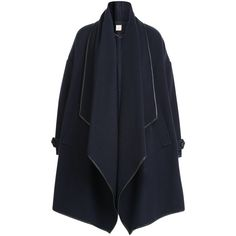 Burberry London Cashmere Cape Coat (1,825 CAD) ❤ liked on Polyvore featuring outerwear, coats, jackets, coats & jackets, capes, blue, blue cape coat, blue coat, cashmere cape and cashmere coat