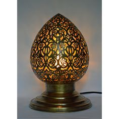 handmade brass filigree table lamp morocco shopping great deals