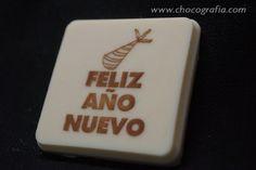 Feliz año nuevo chocolate 5x5cm