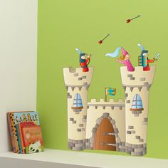 Knights Castle  Wall Decal  Color Print  H39 x W27 by MurMurDeco, $34.99