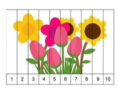 Spring Activities for Kids Preschool Puzzles, Numbers Preschool, Preschool Learning Activities, Maths Puzzles, Preschool Class, Math Numbers, Spring Activities, Fun Learning, Preschool Garden