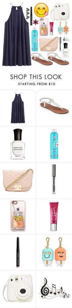"""Beach Please!"" by forevercrazyfashiondivas ❤ liked on Polyvore featuring H&M, Apt. 9, Deborah Lippmann, COOLA Suncare, Forever 21, BBrowBar, Casetify, Beauty Rush, Bobbi Brown Cosmetics and Fujifilm"