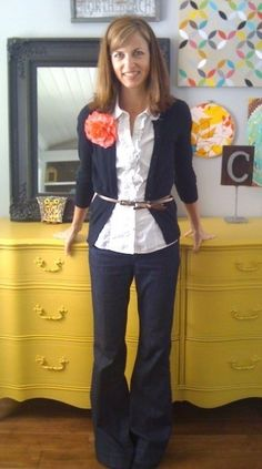 Casual Style-Minus the flower,nice combination for work