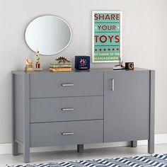 Uptown Wide Dresser (Grey) in Dressers | The Land of Nod