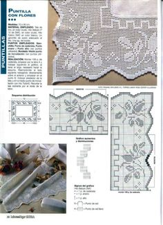 View album on Yandex. Filet Crochet Charts, Crochet Borders, Crochet Patterns, Crochet Edgings, Crochet Curtains, Crochet Tablecloth, Crochet Home, Knit Crochet, Crochet Dollies