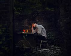 incarcerated in anguish   by michaelduschl, via Flickr Surrealism Photography, Conceptual Photography, Photography Poses, Fine Art Photography, Horror Photography, Men Photoshoot, Sadness, Mysterious, My Photos
