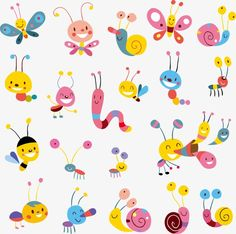 Cute cartoon animal collection