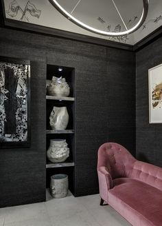 This Black Knotted Hemp Wall Covering Showcases The Natural Product In A Diffe Light