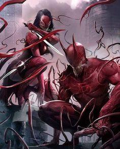 Daredevil & Electra symbiotes.