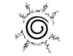 Naruto 9 tails seal mark